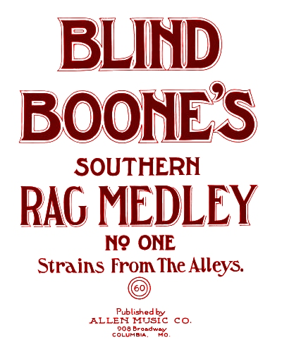 blind boone rag medley #1 cover