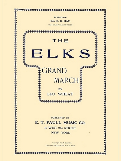 The Elks Grand March (later cover)