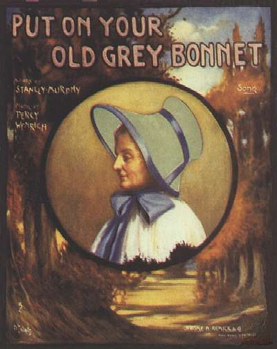 put on your old grey bonnet cover