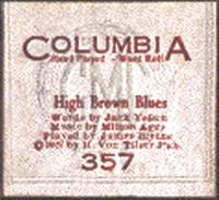 jimmy blythe columbia piano roll label