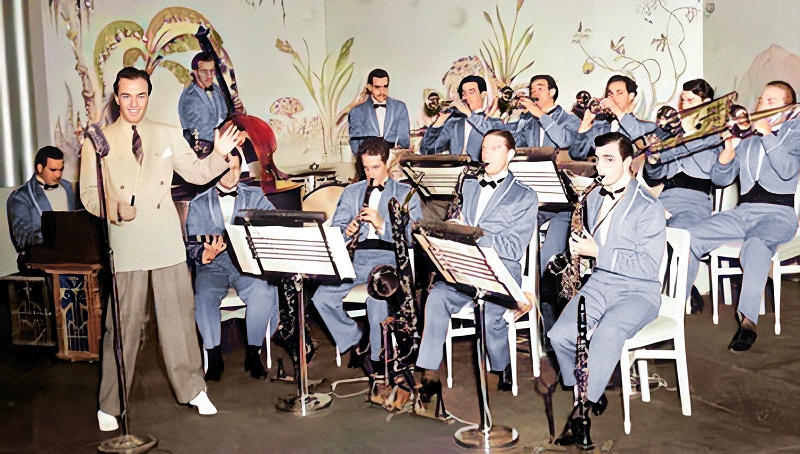 the hal kemp orchestra around 1940