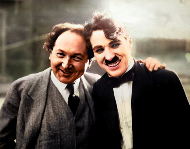 charlie with pianisst leopold godowsky