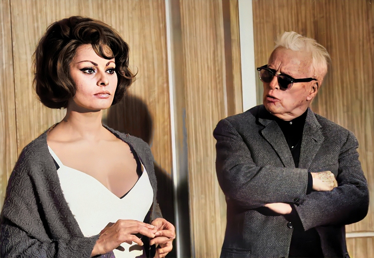 chaplin with sophia loren