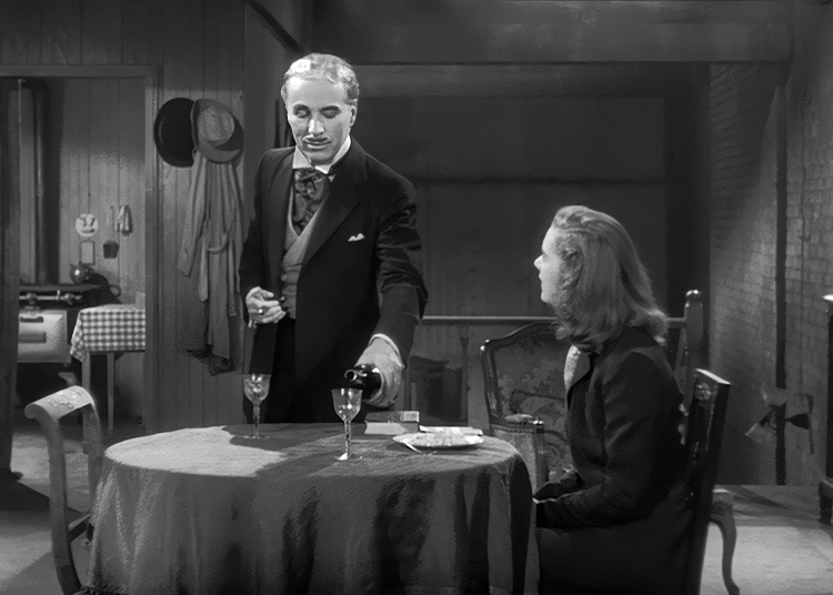 chaplin as monsieur verdoux serving poisoned wine