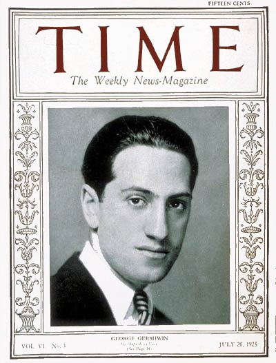gershwin on the cover of time magazine 7/20/1925