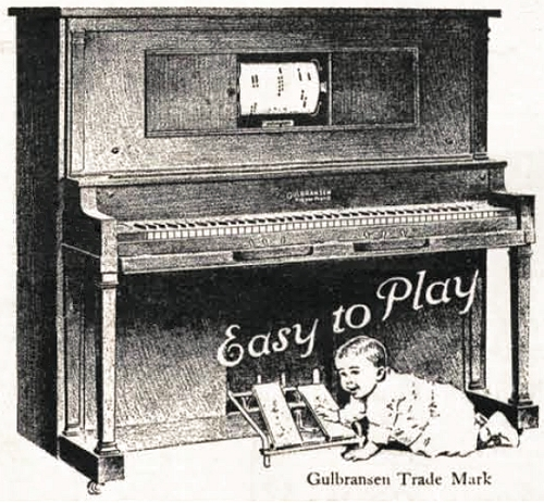 gulbransen player piano advertisement