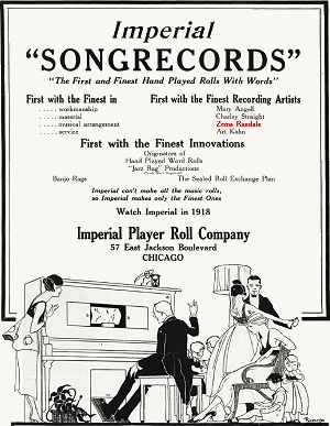 imperial piano roll advertisement