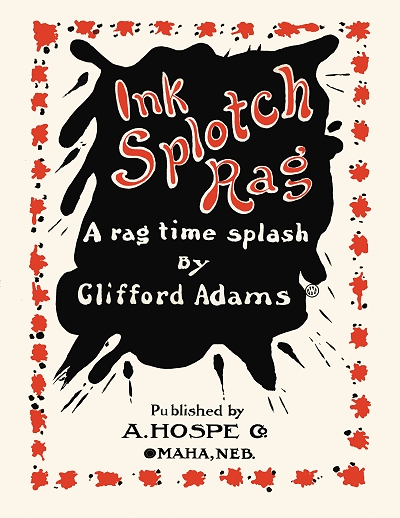 ink splotch rag cover