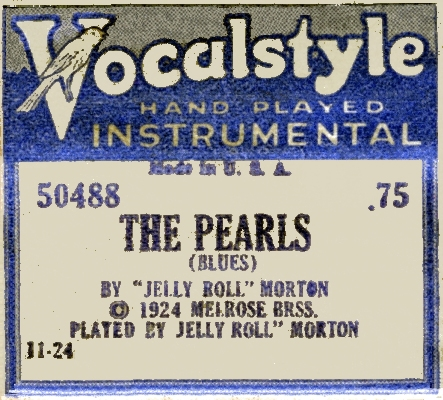 vocalstyle piano roll label of the pearls