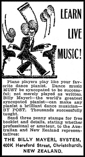 billy mayerl correspondence piano school advertisement