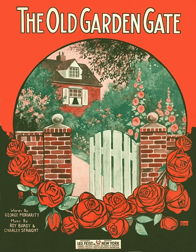 the old garden gate cover