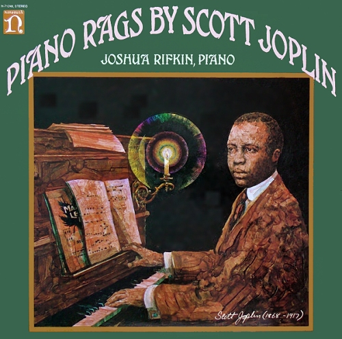 scott joplin piano rags played by joshua rifkin cover