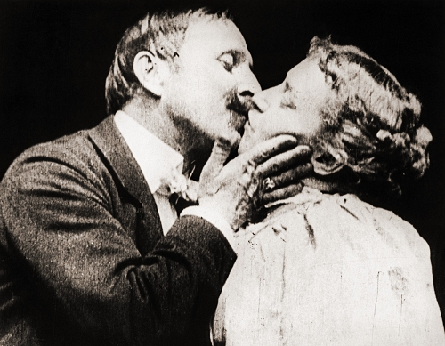 may irwin and john c rice in 'the kiss'