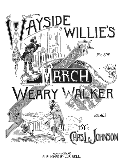wayside willie's/weary walker march cover